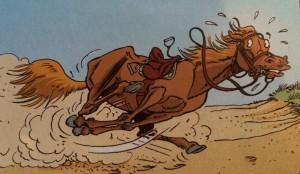 cheval en fuite